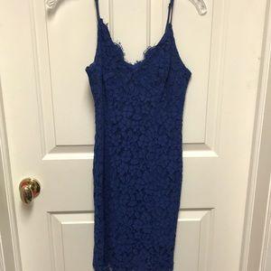 Lulu's Royal Blue Lace Dress
